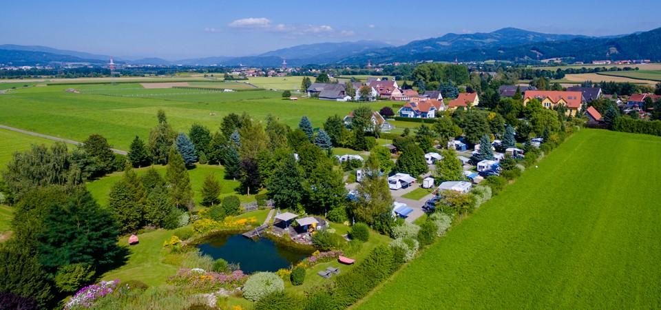 De charme camping 50plus Campingpark Fishing in Stiermarken is een prachtige seniorencamping in Oostenrijk.